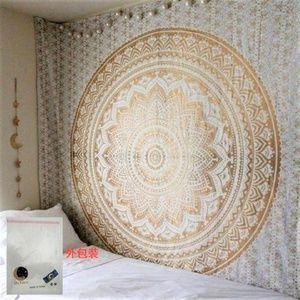 "NIP Art Box Mandala Wall Tapestry 90x85"" Queen"